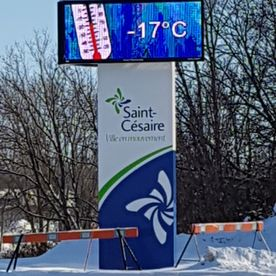 Saint-Cesaire City Digital Display