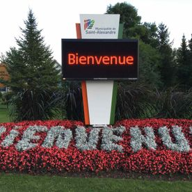 Municipality of St-Alexandre Digital Display